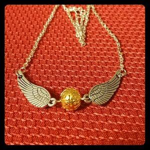 Jewelry - Handmade Harry Potter Snitch necklace
